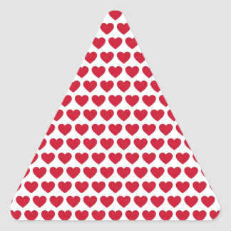 Valentines Day Hearts Pattern Affordable Triangle Sticker