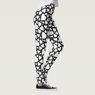 Valentine's Day Hearts Pattern. Custom BG Color! Leggings