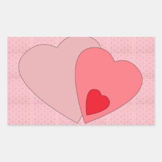 Valentines Day Hearts Stickers / Envelope Seals