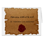 Valentine's Day Historical Origin Card