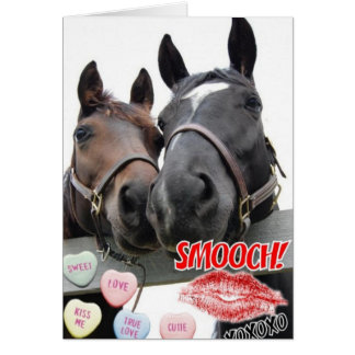 Valentine's Day Horses Greeting Card