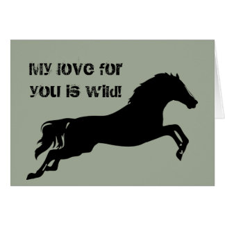 Valentine's Day | Horses | Horse Card | Love