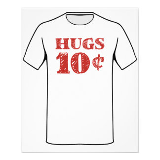 Valentine's Day Hugs 10 Cents 11.5 Cm X 14 Cm Flyer
