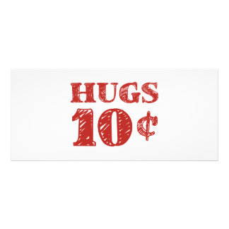Valentine's Day Hugs 10 Cents Rack Cards