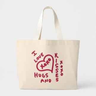 Valentine's Day hugs and kisses Jumbo Tote Bag