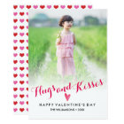 Valentine's Day Hugs Kisses Hearts Family Photo Card