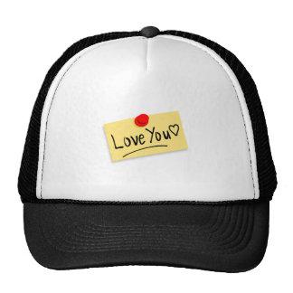 Valentine's Day I Love You Trucker Hats
