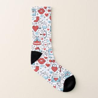 Valentine's Day Icons socks