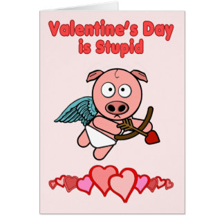 Valentines Day is Stupid Greeting Card