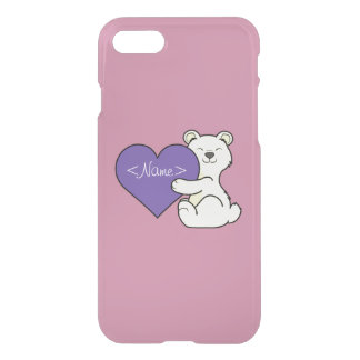 Valentine's Day Kermode Bear with Purple Heart iPhone 7 Case