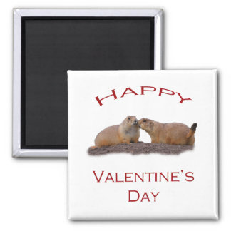 Valentine's Day Kiss Square Magnet