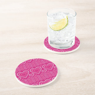 Valentine's Day Knitted Pattern 2 Coaster