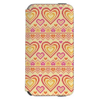 Valentine's Day Knitted Pattern Incipio Watson™ iPhone 6 Wallet Case