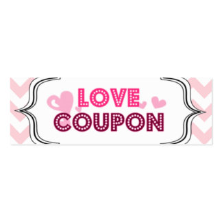 Valentine's Day Love Coupons Pack Of Skinny Business Cards