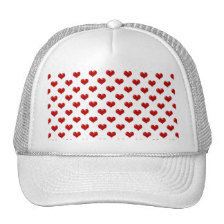 Valentine's Day Love Cute Red Hearts Pattern Cap