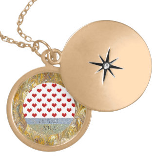 Valentine's Day Love Cute Red Hearts Pattern Jewelry