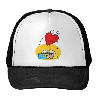 Valentine's Day Love Mesh Hats