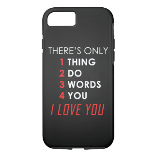 Valentines day LOVE iPhone 7 Case