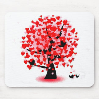 valentines day love romance soul mate tree nature mouse pad