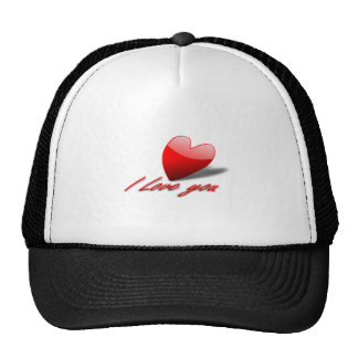 Valentine's Day Love You Heart Hats