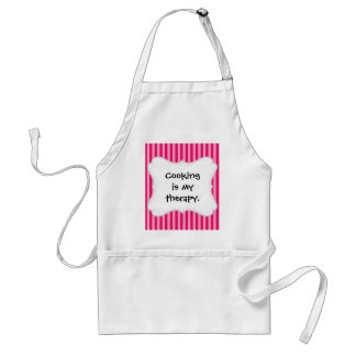 Valentine's Day Love You Pink Red Stripes Gifts Standard Apron