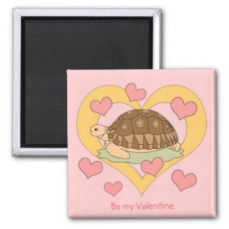 Valentine's Day Magnet (sulcata tortoise 2 )
