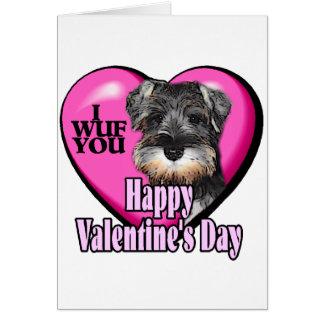 Valentine's Day Miniature Schnauzer Greeting Card