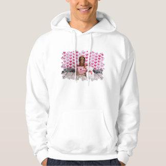 Valentine's Day - Mollie - Dachshund Hooded Pullover