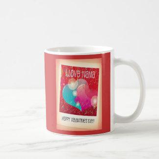 Valentine's Day Mug-I Love Nana Basic White Mug