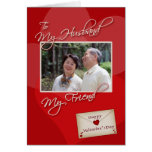 Valentine's Day, My Husband - Photo card template