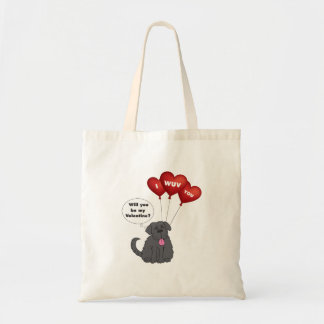 Valentines Day Newfoundland Dog Tote Bag