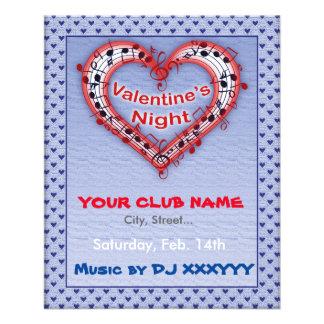 Valentine's Day, Night, Party Flyer