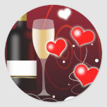 Valentines Day or Special Occasion Round Stickers