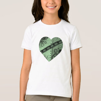 Valentine's Day pale green and black steampunk hea T Shirt
