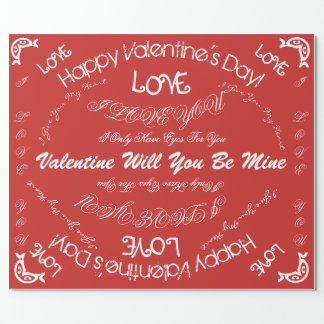 Valentine's day paper wrapping paper