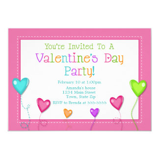 Valentine's Day Party Invitation, Kid Heart Card