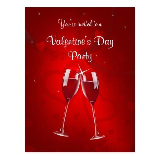 Valentine's Day Party Invitation Postcard