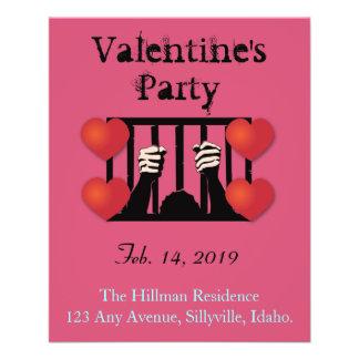 Valentine's Day Party Prisoner Custom Flyer