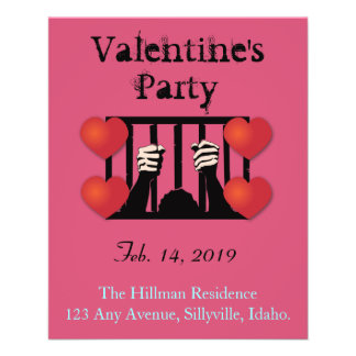 Valentine's Day Party Prisoner 11.5 Cm X 14 Cm Flyer