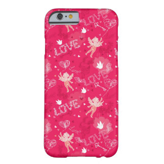 Valentine's Day Pattern With Cupid Barely There iPhone 6 Case