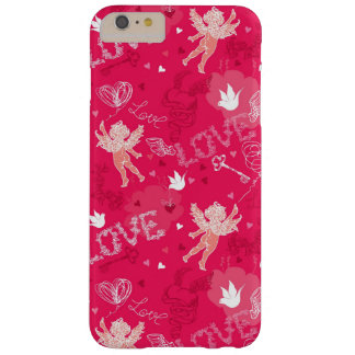 Valentine's Day Pattern With Cupid Barely There iPhone 6 Plus Case