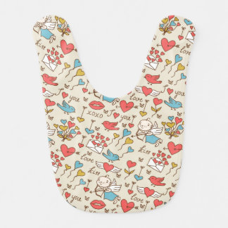 Valentine's Day Pattern with Cupid Bib