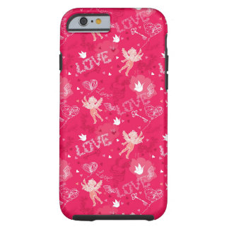 Valentine's Day Pattern With Cupid Tough iPhone 6 Case