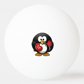 Valentine's Day Penguin Ping Pong Ball
