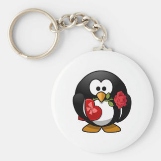 Valentine's Day Penguin Key Chains