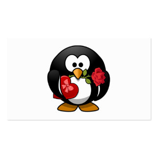 Valentine's Day Penguin Pack Of Standard Business Cards