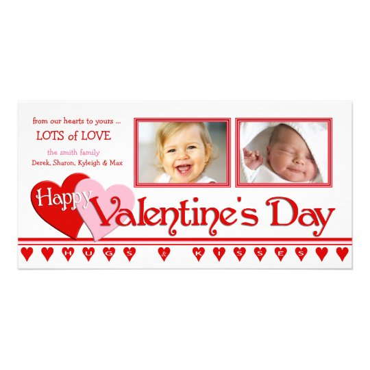 Valentine's Day Photo Cards - Family 2 Frames