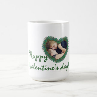 Valentine's day photo heart frame mugs