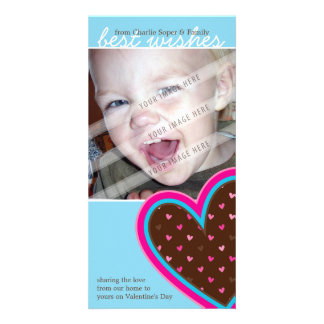 VALENTINE'S DAY PHOTOCARD :: funky hearts 10P Customised Photo Card