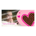 VALENTINE'S DAY PHOTOCARD :: funky hearts 12L Personalized Photo Card